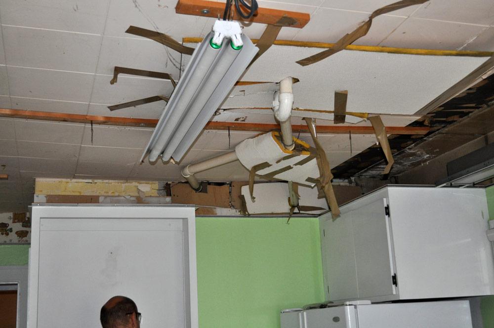 removing a kitchen drop ceiling hidden plumbing