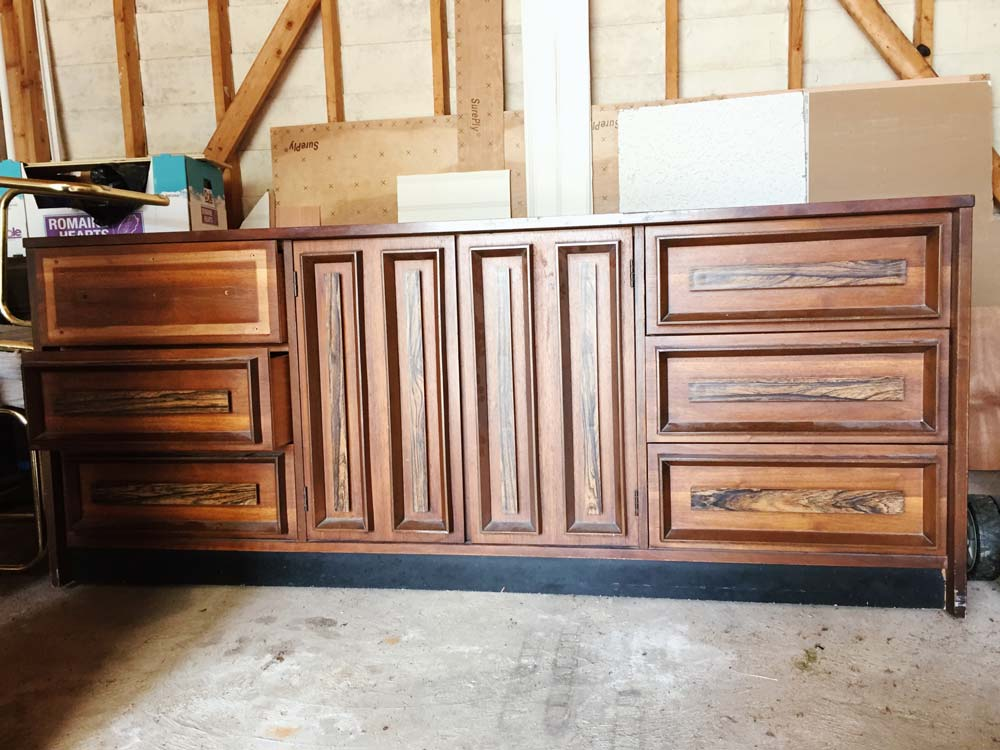 1970's Dresser with Decorative Molding Before