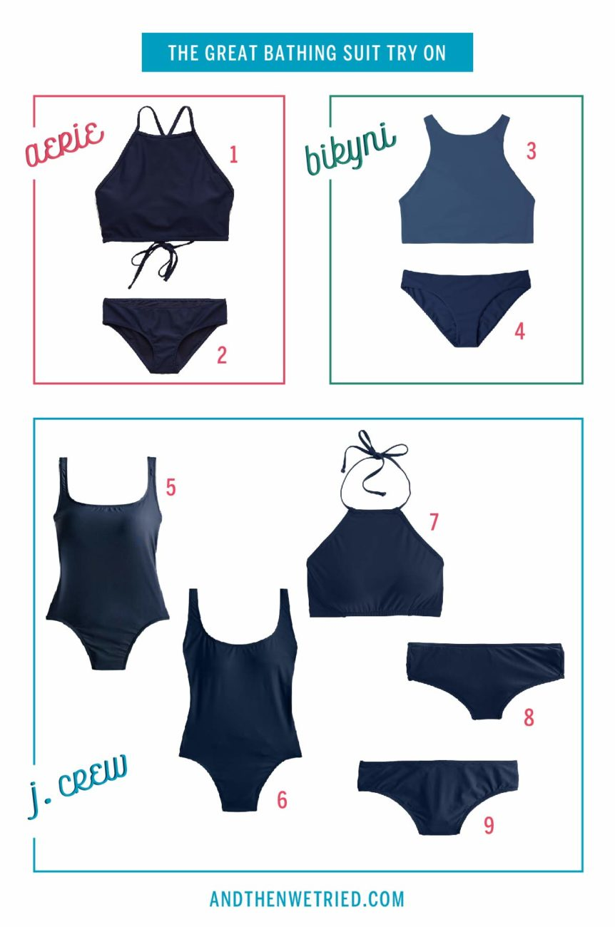 One Lady's Search for the Perfect One-Piece Bathing Suit for Curves, aka boobs + booty