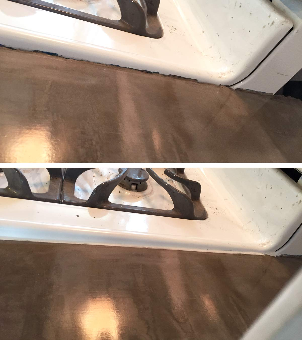 using caulk to seal a concrete countertop edge