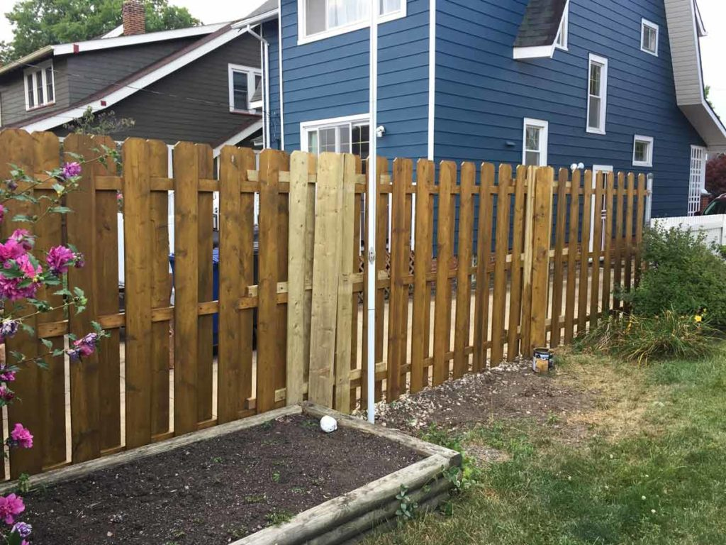 How To Convert A Chainlink Fence To A Wood Fence And