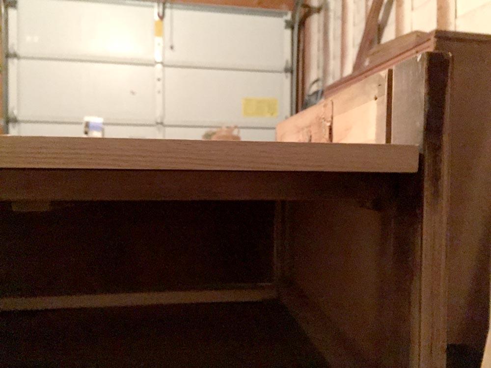 Rebuilding dresser bottom
