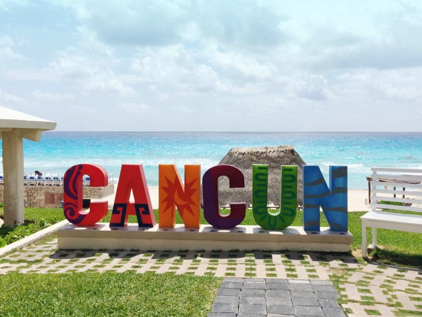 cancun sign all-inclusive cancun ladies beach vacation