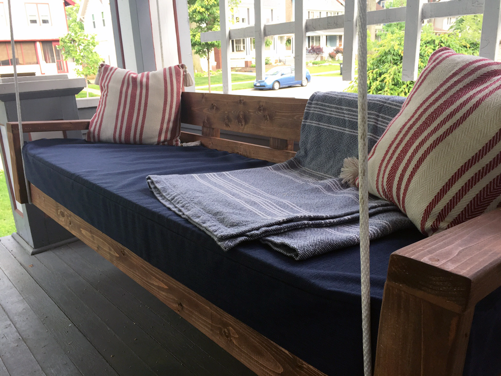 diy hanging daybed final