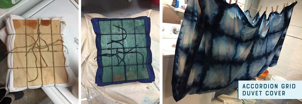 shibori dye duvet cover
