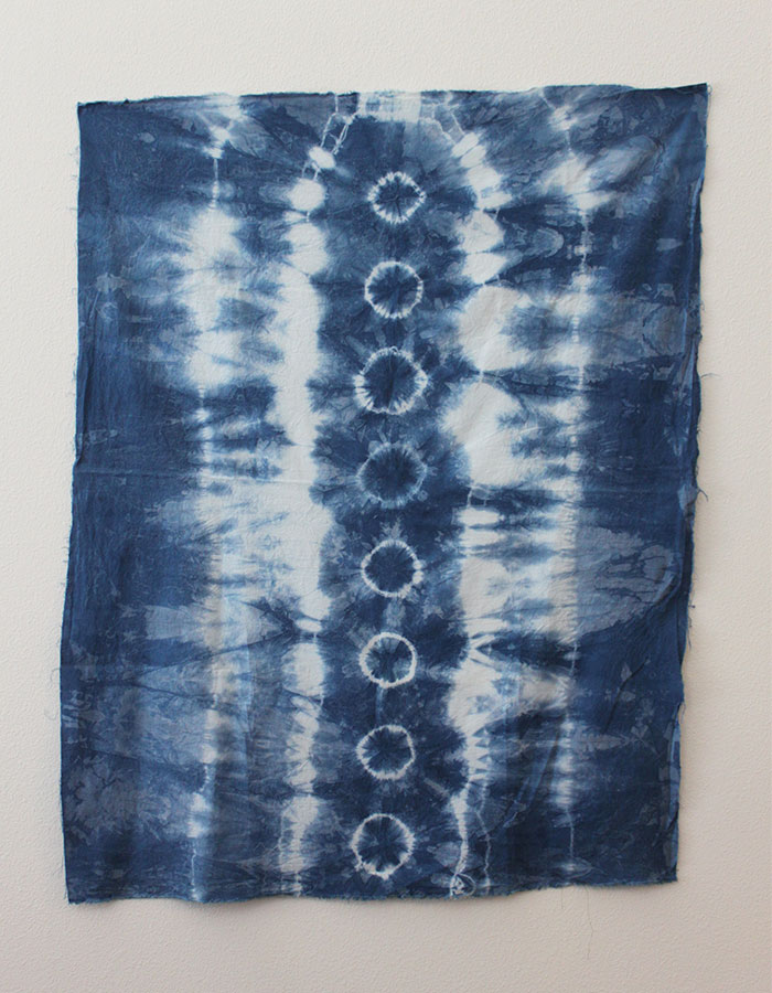 shibori folding patterns rubberbands