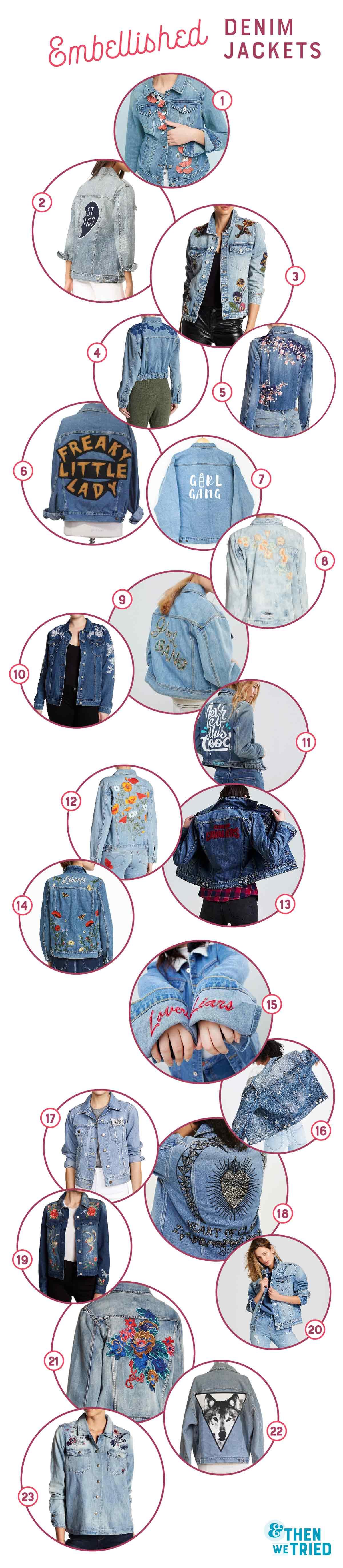 Our favorite embellished denim jackets