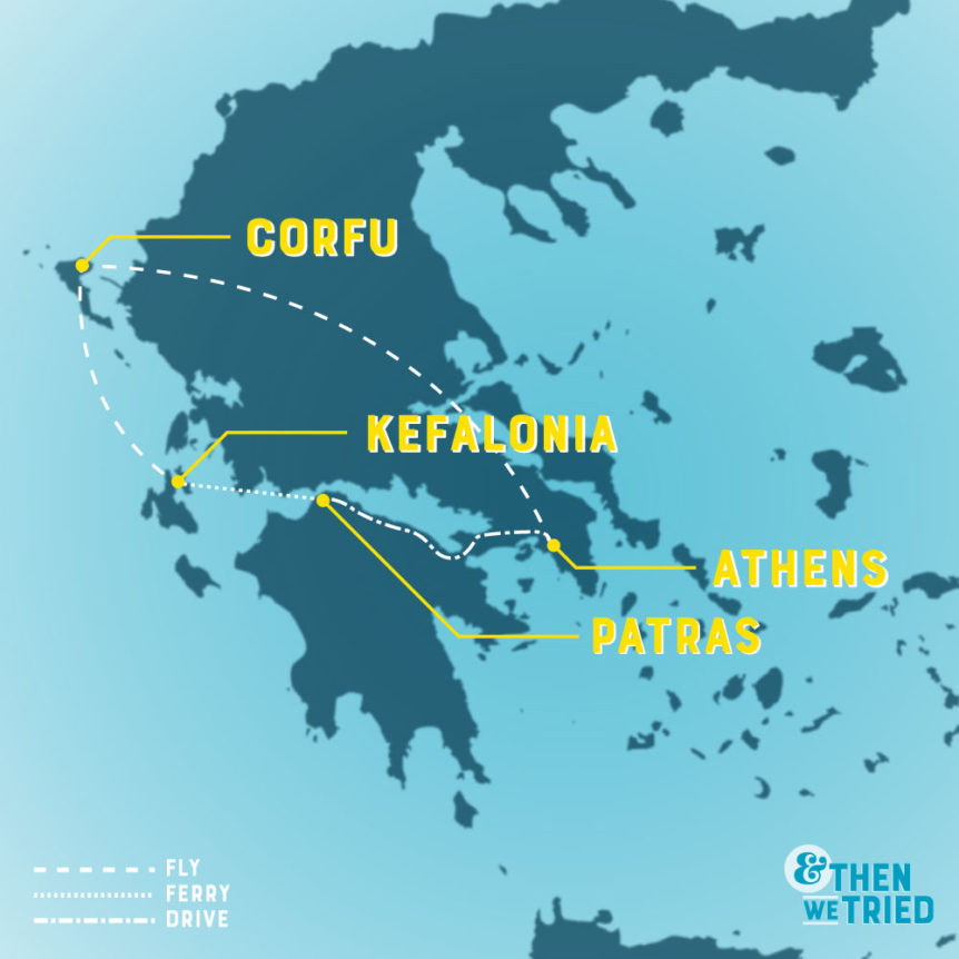 itinerary for one week in greece